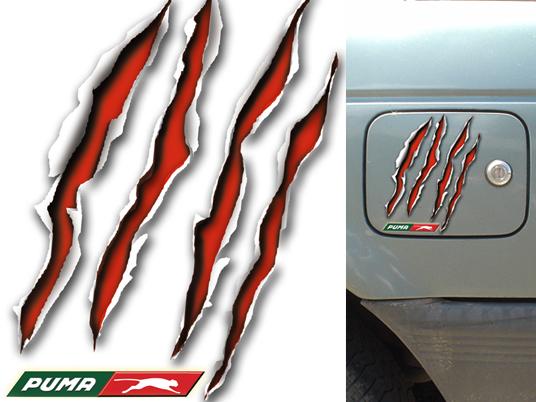 Sticker para tapón de combustible